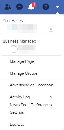 Facebook-Einstellung