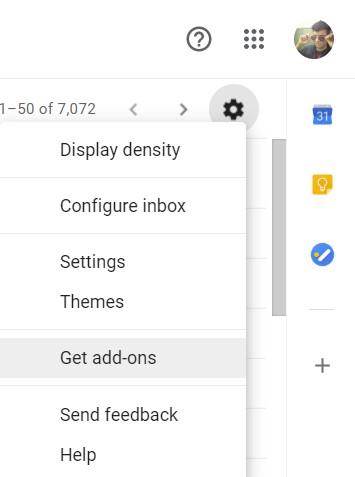 Holen Sie sich Google Mail-Add-Ons