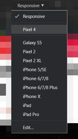 Pixel 4 Menü