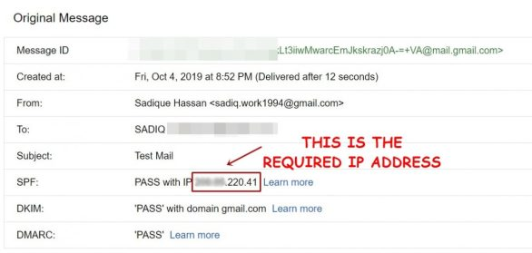 trace the IP address of the email