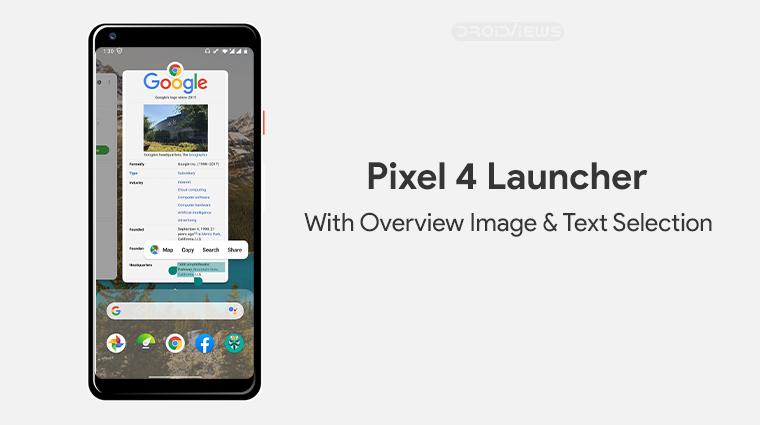Pixel 4 Launcher