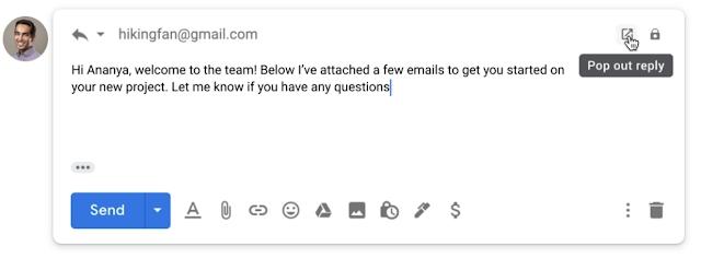 Antwort E-Mail Google Mail