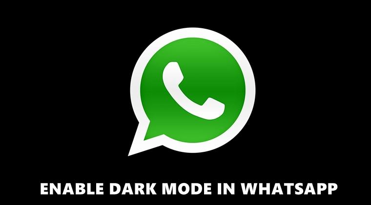 WhatsApp Beta Dark Mode