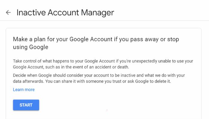 Google inaktiver Konto löschen Manager