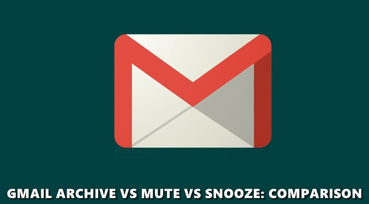 Archiv stumm Snooze Google Mail