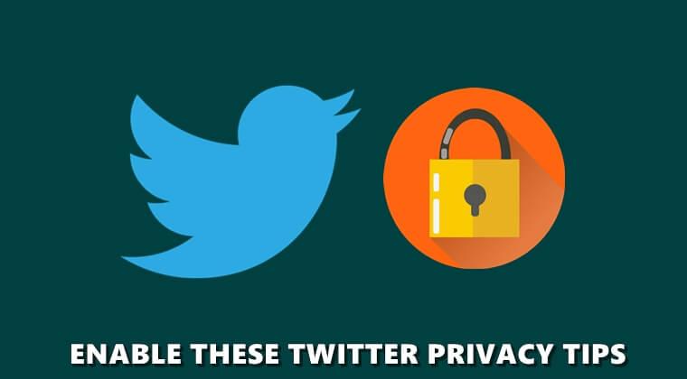Twitter Datenschutz-Tipps