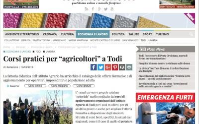 """Corsi pratici per """"agricoltori"""" a Todi // Parlano di noi"""