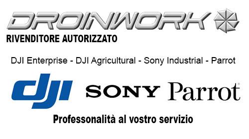 Droinwork è rivenditore autorizzato DJI, Parrot e SONY