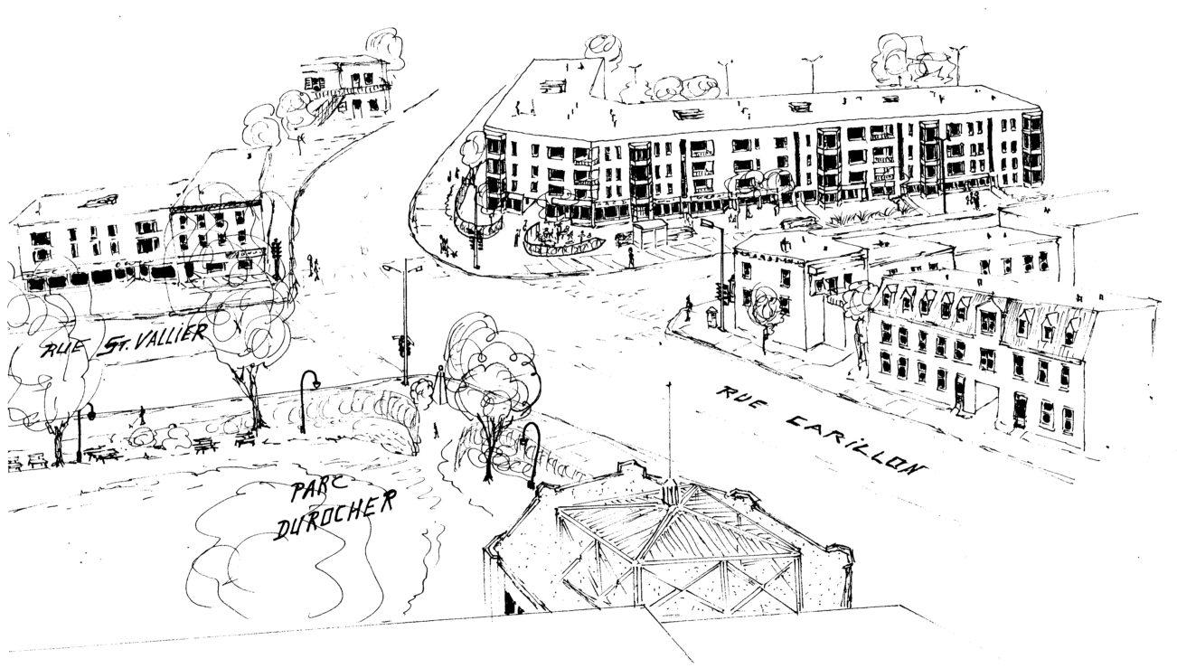 Droit de parole rêve encore. Pourquoi ne pas déplacer le projet de logement social prévu à l'emplacement du Centre Durocher vers le stationnement au nord du Parc Durocher, un terrain qui appartient déjà à la Ville ? Le fait de jumeler du logement social à des commerces (services de proximité au rez-de-chaussée) pourrait faire partie d'un projet expérimental dont le but serait de relancer la rue Saint-Vallier Ouest qui en a bien besoin. Quant au Centre Durocher, réhabilité et sauvé d'une injuste démolition, on pourrait lui trouver une vocation culturelle pour faire contraste avec les trois autres centres communautaires du quartier Saint-Sauveur, qui sont plutôt axés sur les loisirs et le sport.