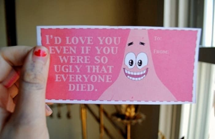 Weird valentines day card