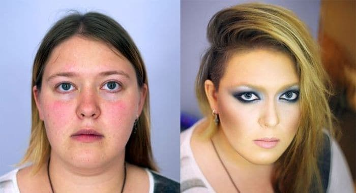58 With and Without Makeup Pictures of Girls That Will Shock You - 07