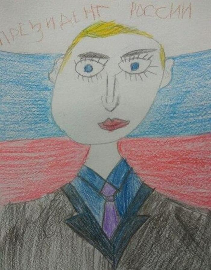 27 Funny Drawings of Putin By Russian Kids Will Make You LOL -21