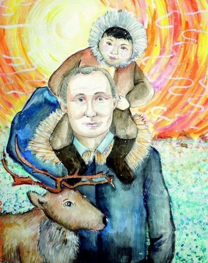 27 Funny Drawings of Putin By Russian Kids Will Make You LOL -24