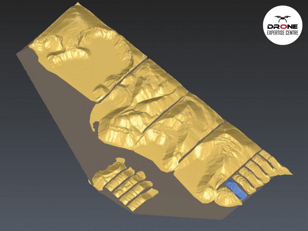 Modélisation 3D pour calcul de topographie par photogramméttrie réalisée à partir de photos drone à Chartres (28)