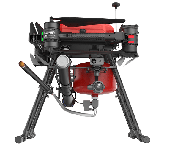 Fire fighting drone fire equipment