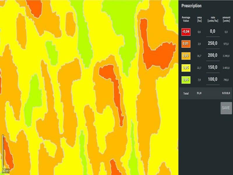 Pix4Dfields-mappa-prescrizione Software
