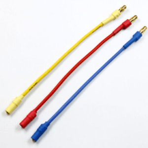 3 Pezzi Cable Banana extension 3.5MM/4MM red, yellow, blue 100CM