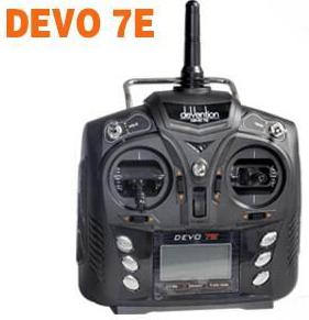7CH 2.4G DEVO-7E DSSS Radio Control Trasmettitore 7 Canali W/o Rx