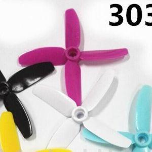 3030*4 Eliche 2 Pezzi CW + 2 Pezzi CCW Black and White