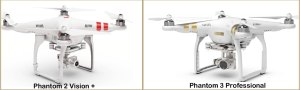DJI Phantom 3 Improvements over Phantom 2 Vision plus