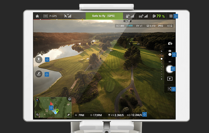 DJI Pilot App and Lightbridge bring  a fuller pilot experience.
