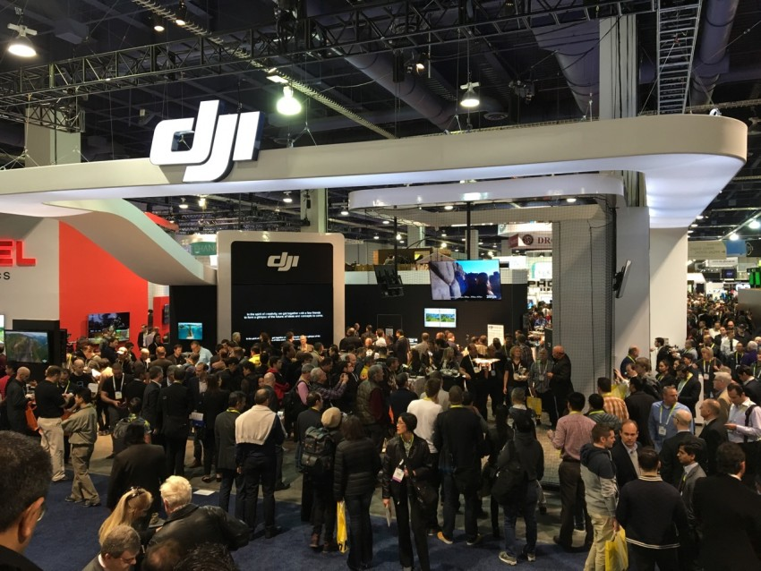 One of two DJI Booths at CES