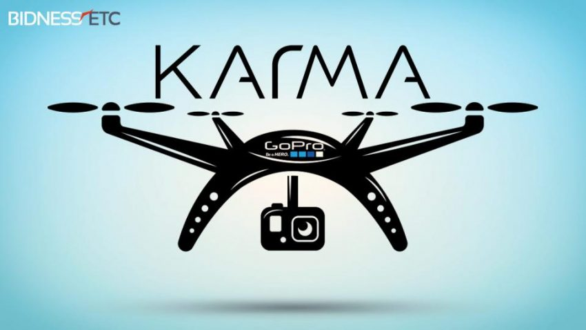 Karma Drone Sketch - by  a 3rd party (not from GoPro and not what it will look like)