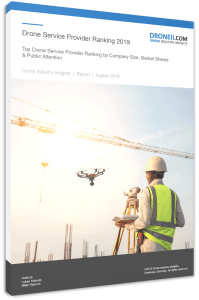 Drone Service Provider Ranking 2019 - Title Page Portrait 3D Shadow