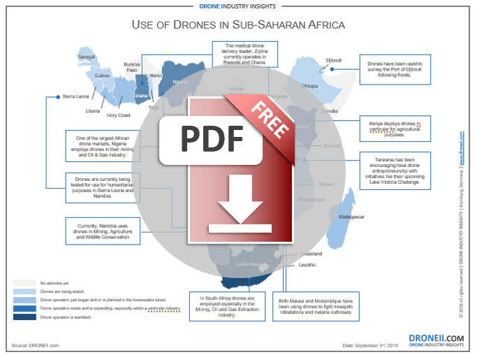 Drones in Sub-Saharan Africa - Download Icon