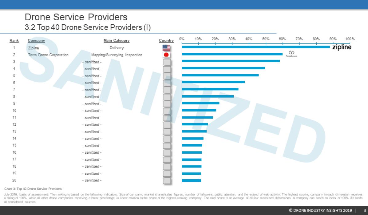 Drone Service Provider Ranking Report Sample 3