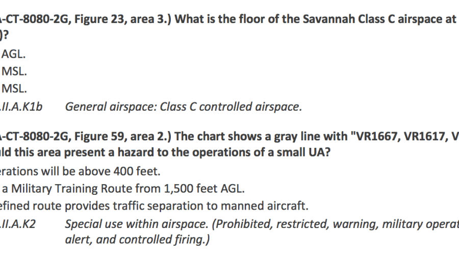 how to read a sectional chart part 107 drone test