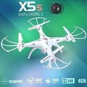 Syma-X5SC-1-Falcn-Drone-Cuadricptero-RC-20-Mp-Cmara-4-Canales-24GHz-Luz-LED-Blanco-0-2