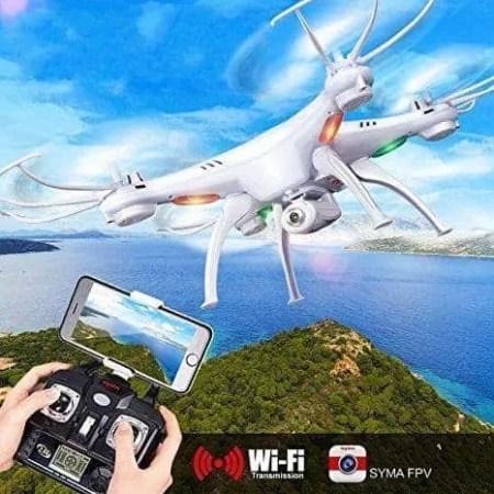 Syma-X5SW-4CH-24G-6-Axis-Gyro-Headless-Soporte-mvil-Wifi-FPV-HD-de-2MP-cmara-de-360-grados-3D-balanceo-Modo-2-RTF-RC-Quadcopter-con-3-bateras1-batera-original-2-bateras-de-SEEM-0-0