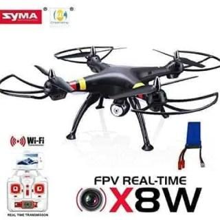 Yacool--Syma-X8W-WiFi-real-Tiempo-Vdeo-24G-4-canales-6-Eje-Venture-con-2MP-cmara-RC-Quadcopter-FPV-negro-2015-NUEVA-LLEGADA-extra-2000mAh-batera-0