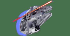 Star Wars Halcón Milenario Drone y que la fuerza te acompañe