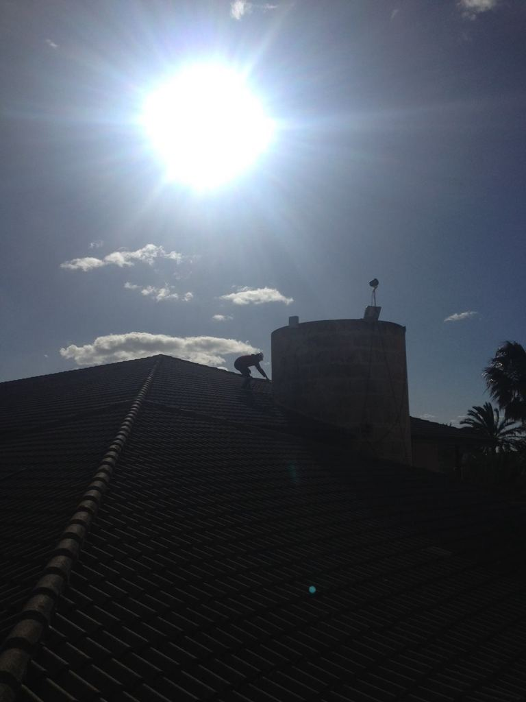 roof where a timelapse camera is installed