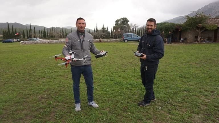 Student and instructor of the course of RPAS pilot