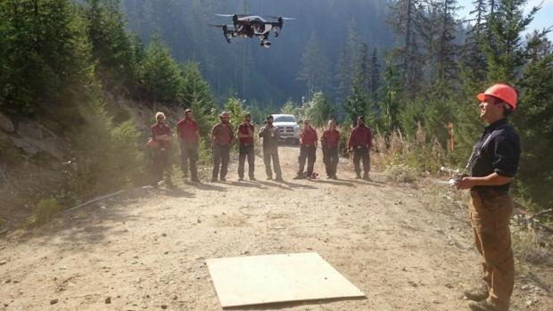 drones wildfire
