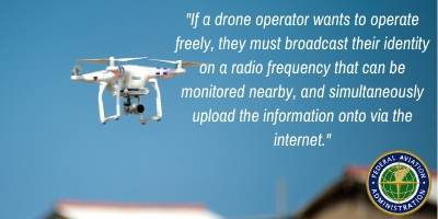 faa rule for tracking drones
