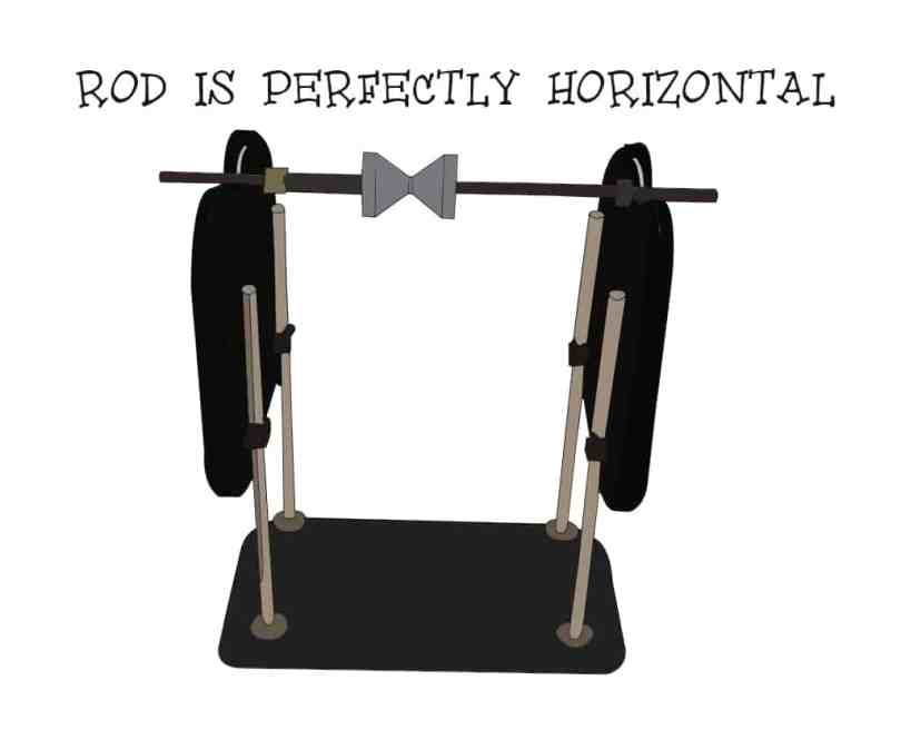 Balancing propellers: Rod horizontal