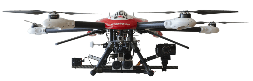 Travel with a drone: The drone