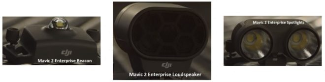 DJI Mavic 2 Enterprise Spotlight, Loudspeaker And Beacon