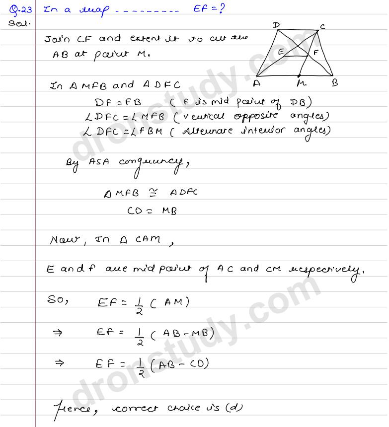 Quadrilaterals and Parallelograms : CCE (R S  Aggarwal