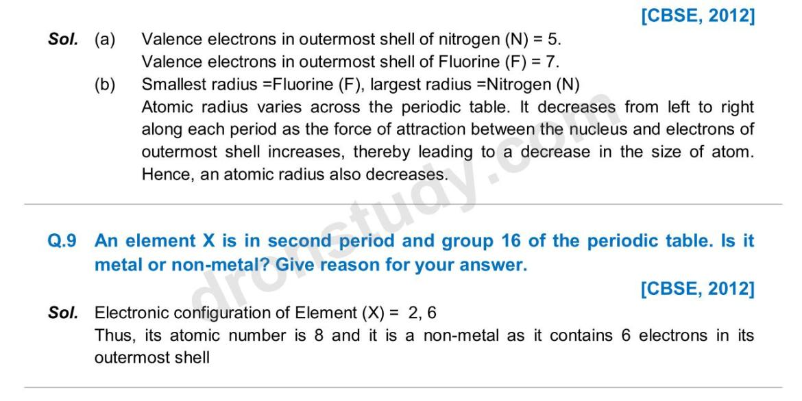 Previous Year Questions - Periodic Classification_05
