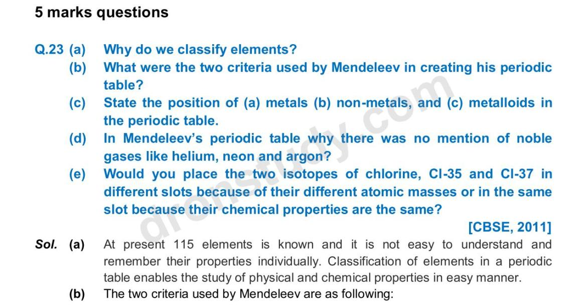 Previous Year Questions - Periodic Classification_18