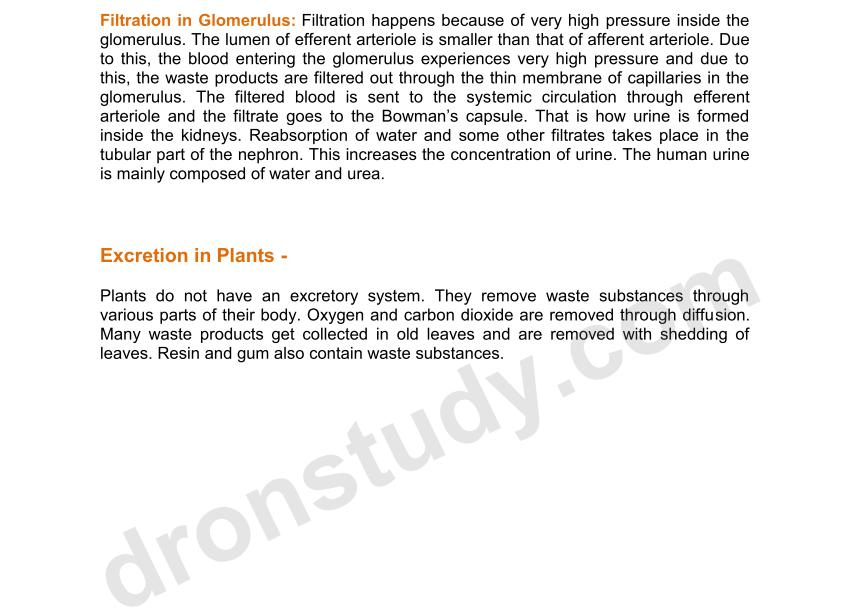 Chapter Notes: Life Processes - 2 (Class 10 Science ) - DronStudy com