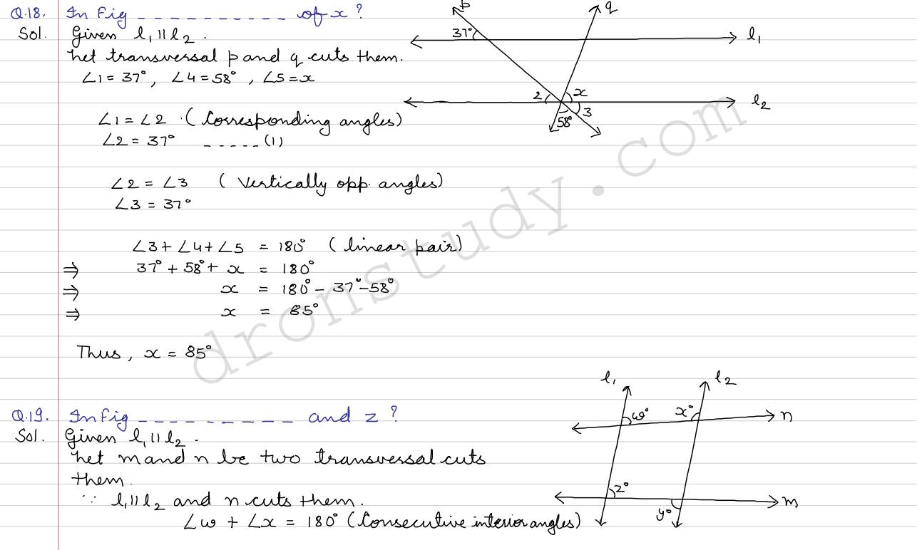 Lines And Angles Cce