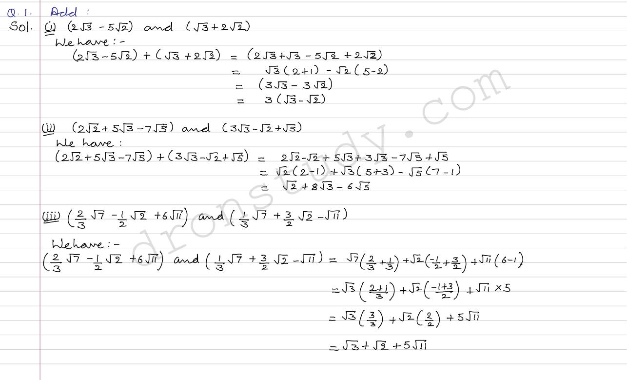Real Numbers Ex 1d R Sgarwal