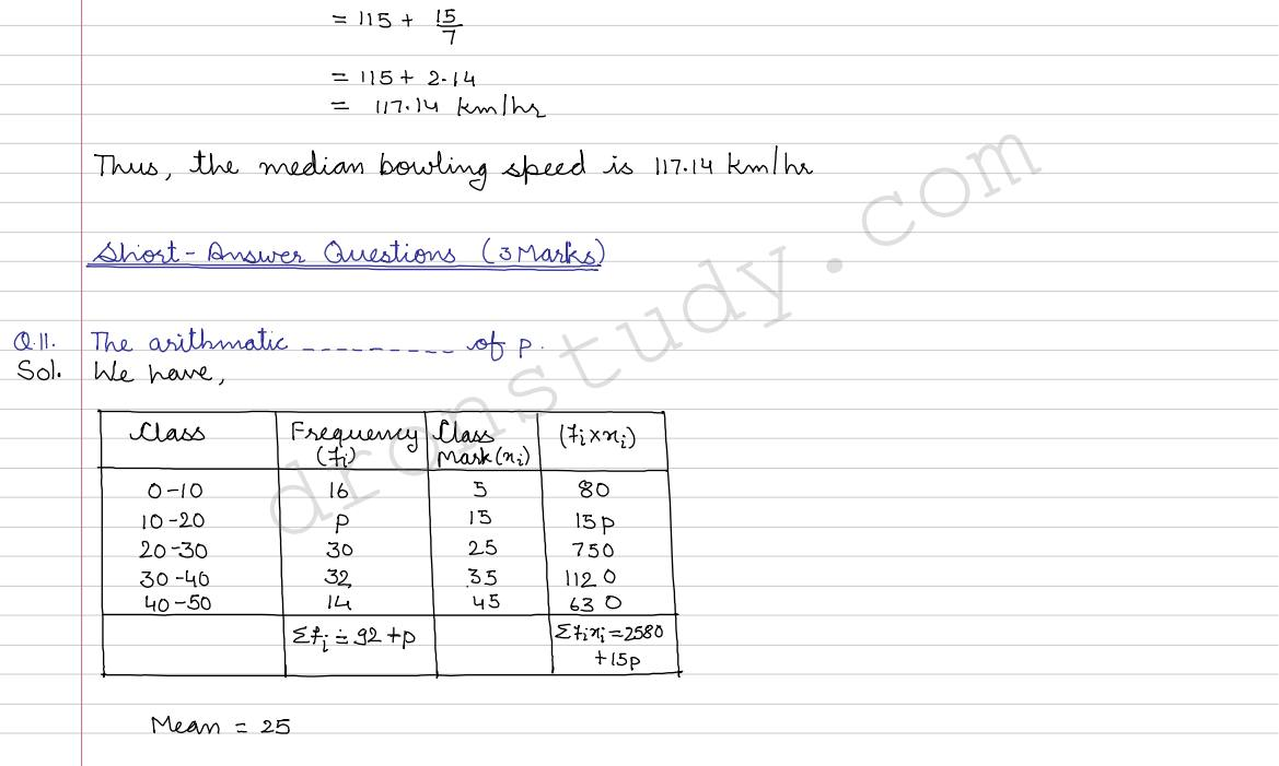Mean, Median, Mode of Grouped Data,Cumulative Frequency