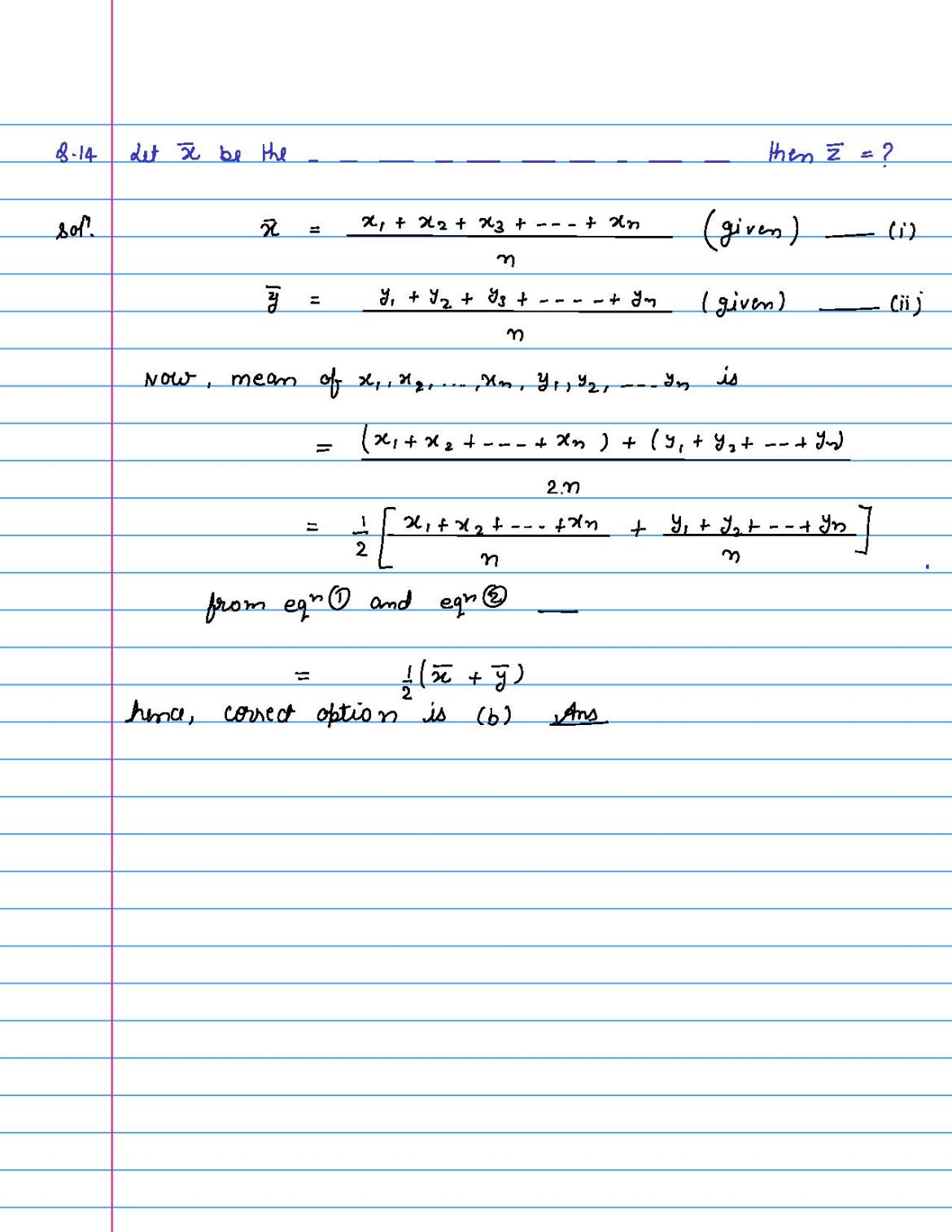 solution of MCQ questions of statistics of class 9th-page-014